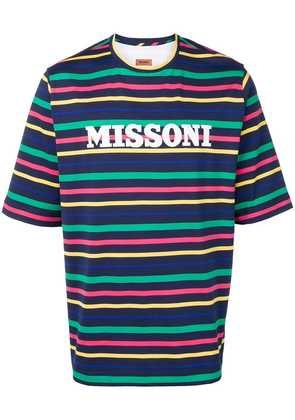 Missoni striped T-shirt - Blue