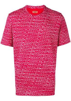 Missoni logo T-shirt - Red