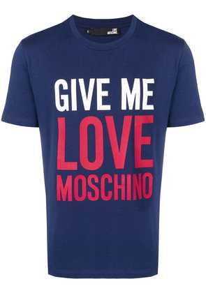 Love Moschino Give Me Love T-shirt - Blue