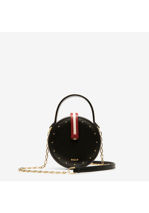 Bally Libby Black, Women's embossed calf leather minibag in black