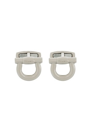 Salvatore Ferragamo Gancio cufflinks - Metallic