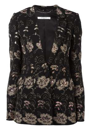 Givenchy floral embroidered blazer - Black