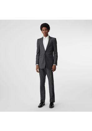 Burberry Slim Fit Pinstriped Wool Cashmere Suit, Grey