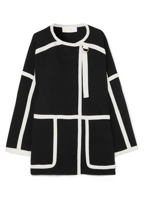 Chloé - Iconic Piped Wool Coat - Black