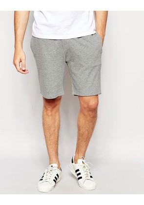 ASOS Jersey Shorts In Grey Marl - Grey marl