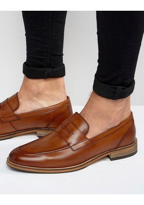 ASOS Loafers in Tan Leather With Natural Sole - Tan