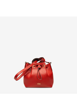 Bally Roux Red, Women's calf leather minibag in papavero