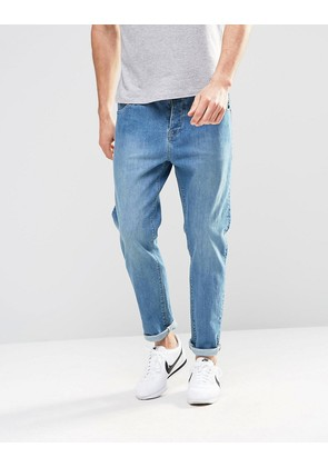 ASOS Stretch Slim Jeans In Mid Wash - Mid blue