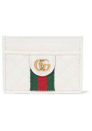 Gucci - Quilted Leather Cardholder - White