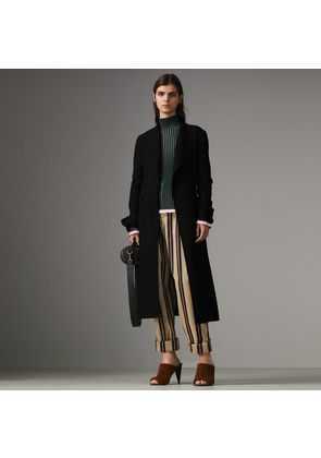Burberry Roll-up Cuff Striped Corduroy Trousers