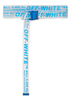 Off-White - Neon Printed Pvc Belt - Bright blue