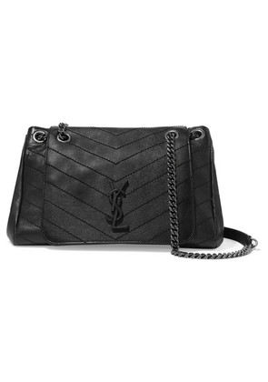 Saint Laurent - Nolita Large Quilted Leather Shoulder Bag - Black