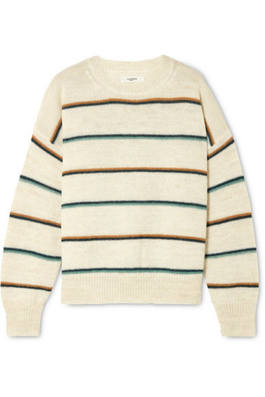 8a543169d35 Isabel Marant Étoile | Gatlin Striped Alpaca-blend Sweater | Ecru ...