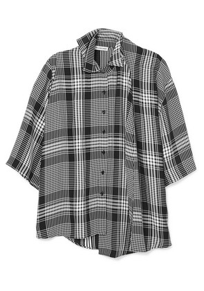 Balenciaga - Layered Checked Poplin Shirt - Black