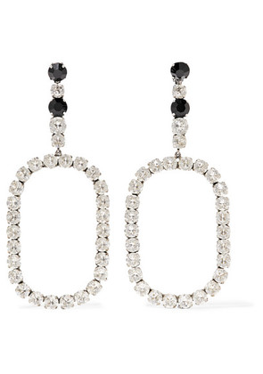 Saint Laurent - Silver-plated Crystal Clip Earrings - one size