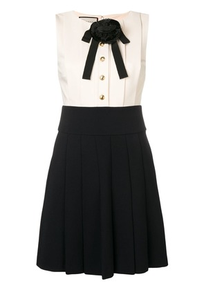 Gucci preppy layered dress - Black