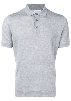Brunello Cucinelli fitted polo shirt - Grey