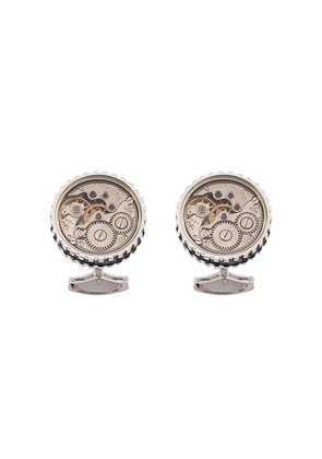 Tateossian 17 Jewel Skeleton Movement cufflinks - Silver