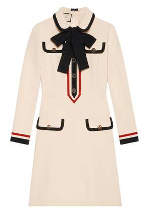 Gucci jersey dress with bow - Neutrals