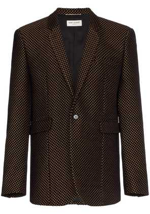 Saint Laurent Velvet gold detail blazer - Black