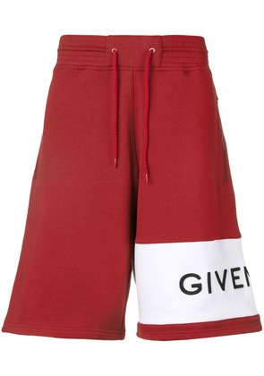 Givenchy logo shorts - Red