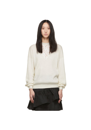 See by Chloé Off-White Lace Insert Sweater