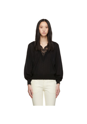 Chloé Black Lace-Trimmed Sweater