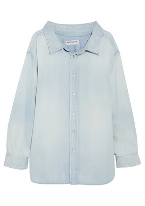 Balenciaga - Cotton-chambray Shirt - Blue