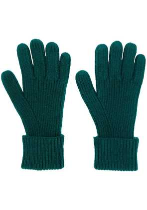 N.Peal ribbed knitted gloves - Green
