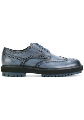 Tod's thick sole brogues - Blue