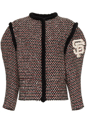 Gucci embroidered tweed jacket - Black