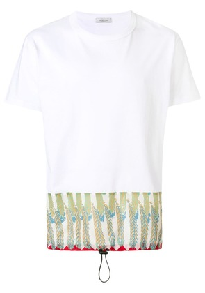 Valentino contrast panel T-shirt - White