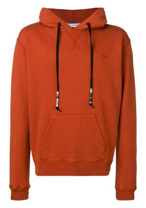 JW Anderson saffron Beaded string hoody - Red