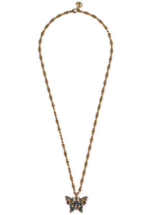 Gucci - Gold-tone Crystal Necklace - one size