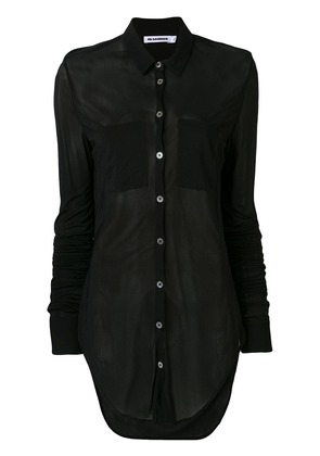 Jil Sander curved hem shirt - Black