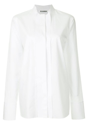 Jil Sander band collar shirt - White
