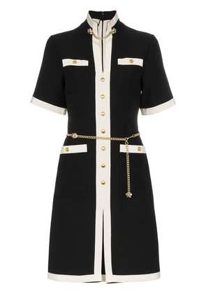 Gucci button-down chain detail wool dress - Black