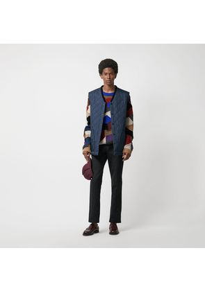 Burberry Diamond Quilted Gilet, Navy