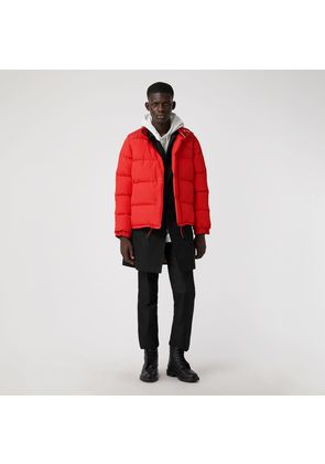 Burberry Detachable-sleeve Down-filled Puffer Jacket, Red