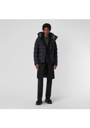 Burberry Detachable-sleeve Down-filled Hooded Puffer Jacket, Blue