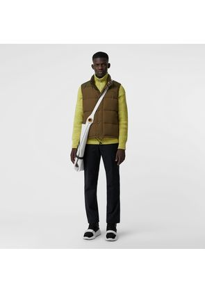Burberry Embroidered Archive Logo Down-filled Gilet, Green