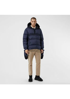 Burberry Down-filled Anorak with Detachable Mittens, Blue