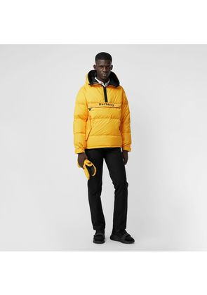 Burberry Down-filled Anorak with Detachable Mittens, Yellow