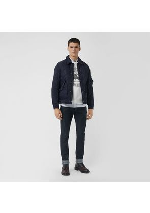 Burberry Diamond Quilted Jacket, Blue