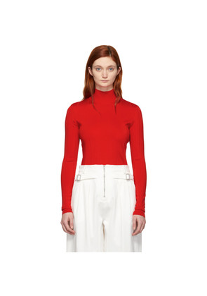 Givenchy Red Knit 4G Turtleneck