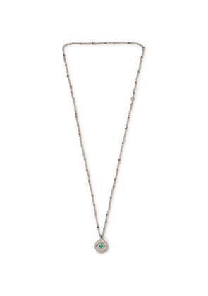 M.Cohen - Evil Eye Sterling Silver, Labradorite And Malachite Beaded Necklace - Silver
