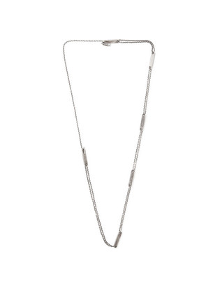 M.Cohen - Oxidised Sterling Silver Id Necklace - Silver