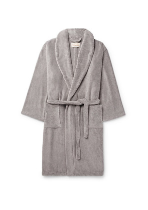 Cleverly Laundry - Striped Cotton-terry Robe - Gray