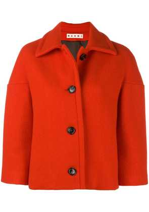 Marni cropped button jacket - Red