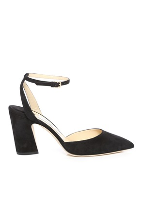 MICKY 85 Black Suede Pointy Toe Pumps